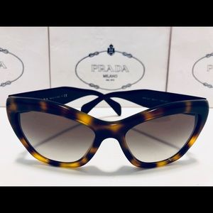 7e33770ca0abf Prada Accessories - Prada Cat Eye Eyeglasses Havana Brown w  Red  Gray